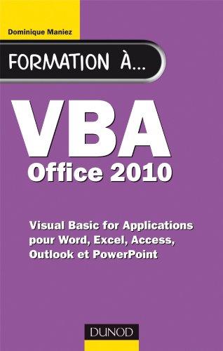 9782100553921: Formation à VBA Office 2010
