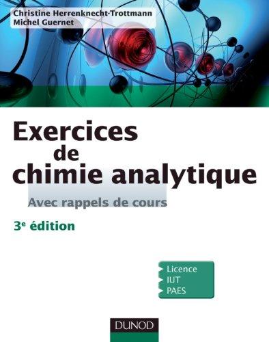 9782100556137: Exercices de Chimie analytique - Avec rappels de cours - 3e éd