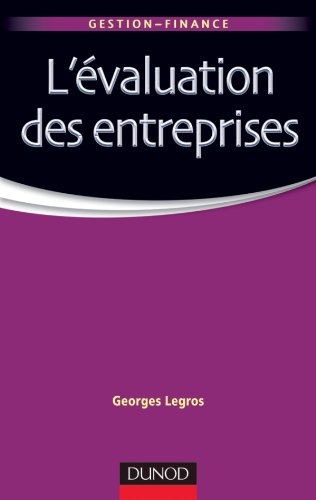 9782100559589: L'évaluation des entreprises