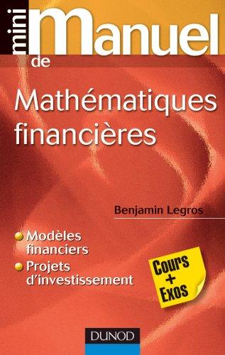 9782100559619: Mini Manuel de Mathématiques financières