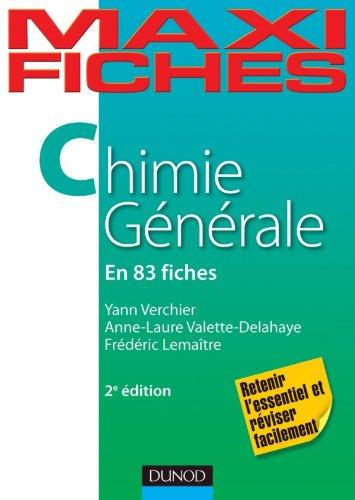 9782100562862: Maxi fiches de Chimie générale - 2e édition - 83 fiches