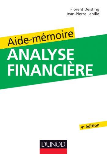 9782100563562: Aide-mémoire d'analyse financière - 4e édition