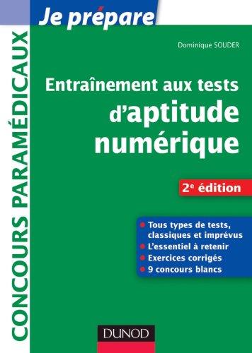 9782100563777: Entraînement aux tests d'aptitude numérique - 2e édition