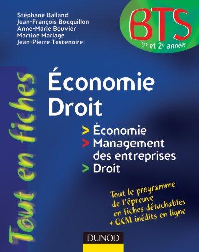 9782100564033: Economie-Droit - en 80 fiches
