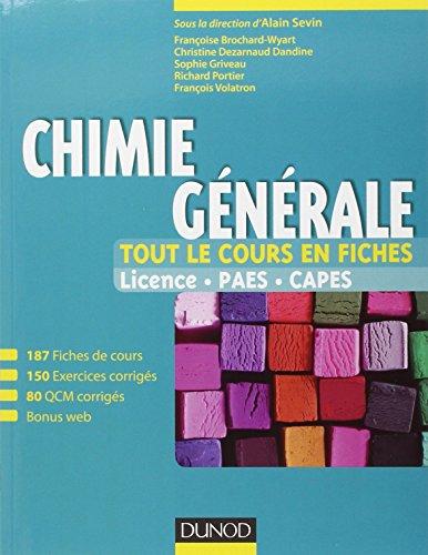 Chimie générale - Tout le cours en: Sevin, Alain, Brochard-Wyart,