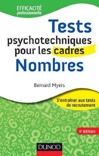 9782100575572: Tests psychotechniques pour les cadres - 2e �d. - Nombres