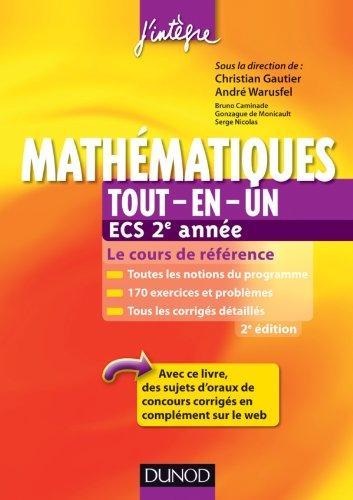 9782100578801: mathematiques tout-en-un ecs 2e annee - 2eme edition - cours et exercices corriges