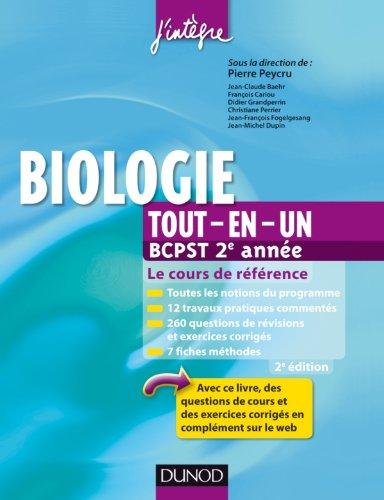 9782100580125: Biologie tout-en-un BCPST 2e ann�e - 2e ed - Le cours de r�f�rence