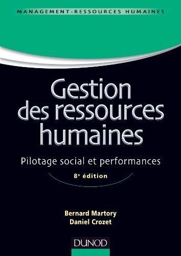 9782100587490: Gestion des ressources humaines - 8e édition - Pilotage social et performances