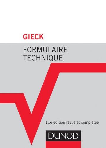 9782100592982: Formulaire technique - 11e éd. (Hors collection)