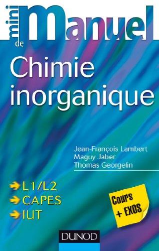 9782100599769: Mini manuel de Chimie inorganique