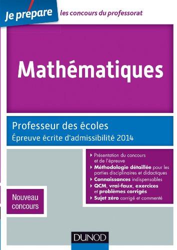 Mathématiques - Professeur des écoles - Épreuve: Jean-François Bergeaut, Christophe