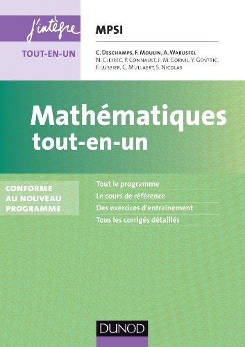 9782100600724: Mathématiques tout-en-un MPSI - 3e éd. - Conforme au nouveau programme