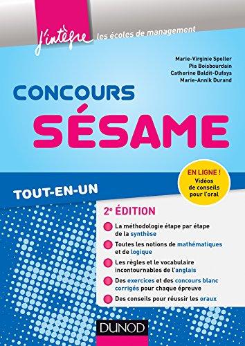 9782100704361: Concours Sésame - 2e éd. - Tout-en-un