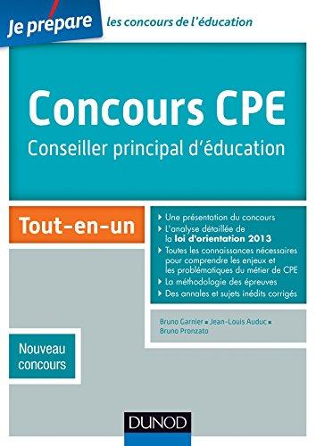 9782100704392: Concours CPE - Conseiller principal d'éducation - Tout-en-un - Nouveau concours