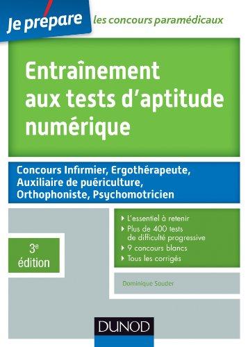 9782100705078: Entraînement aux tests d'aptitude numérique - 3e édition