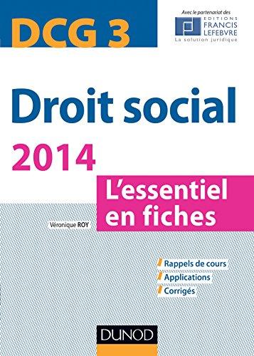 9782100706792: Droit social 2014 - DCG 3 - 5e éd. - L'essentiel en fiches