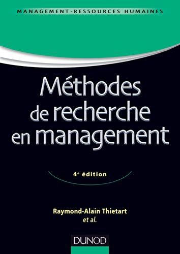 9782100711093: Méthodes de recherche en management - 4ème édition