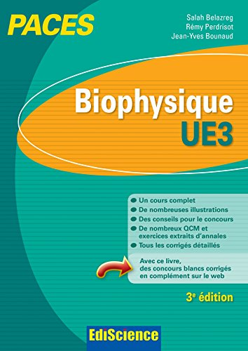 9782100712250: Biophysique - UE3 PACES - 3e éd.: Manuel, cours + QCM corrigés