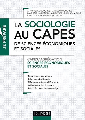9782100715633: La sociologie au CAPES de SES - Capes de Sciences économiques et sociales