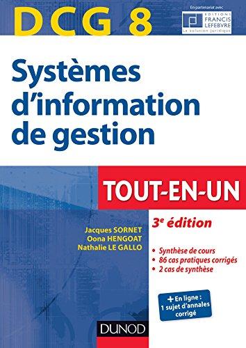 9782100715923: DCG 8 - Systèmes d'information de gestion - 3e éd. - Tout-en-Un