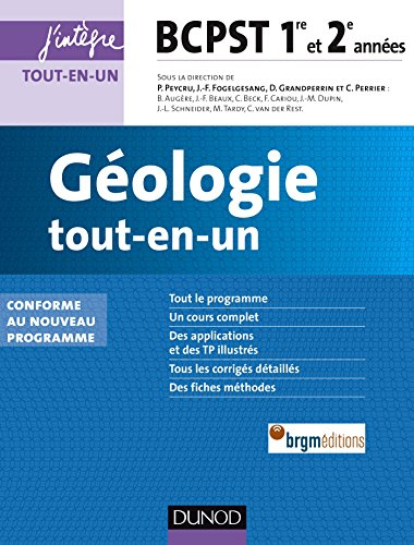 9782100726608: géologie ; BCPST ; 1ère et 2e années ; tout-en-un (2e édition)