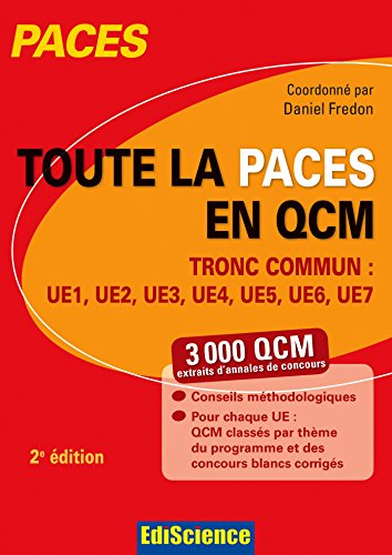9782100727254: toute la paces en qcm ; tronc commun ue1, ue2, ue3, ue4, ue5, ue6, ue7