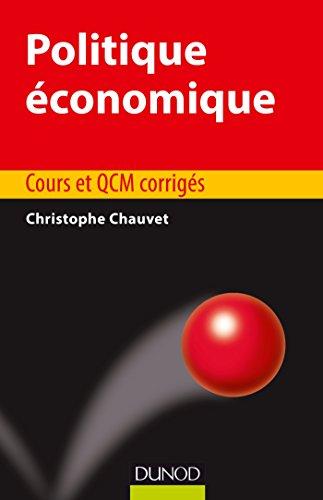 9782100743650: Politique économique - Cours et QCM corrigés