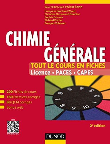 Chimie générale : Tout le cours en: Sevin, Alain/ Brochard-Wyart,