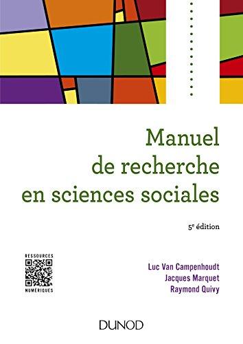 9782100765416: Manuel de recherche en sciences sociales - 5e éd.