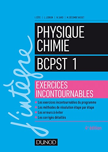9782100779321: Physique-Chimie BCPST 1 - Exercices incontournables