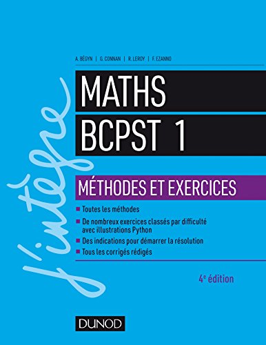 9782100780976: Maths BCPST 1 Méthodes et Exercices
