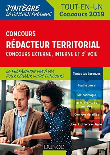 9782100784417: Concours Rédacteur territorial. Externe, interne et 3e voie. - Tout en un - Concours 2019: Tout-en-un - Concours 2019 (2019)