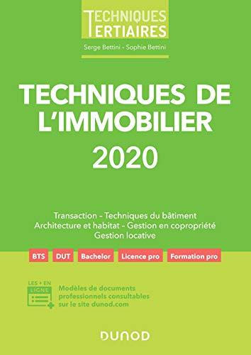 9782100807000: Techniques de l'immobilier 2020 (2020)