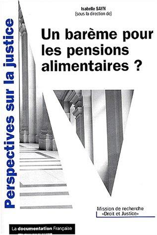 9782110050403: Un barème pour les pensions alimentaires ?