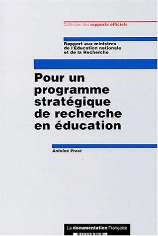 9782110051257: Pour programme stratégique recherche educat