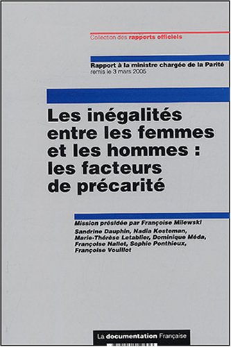 9782110059536: Les in�galit�s entre les femmes et les hommes : les facteurs de pr�carit�
