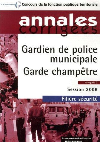 9782110062352: Gardien de police municipale / Garde champêtre (French Edition)