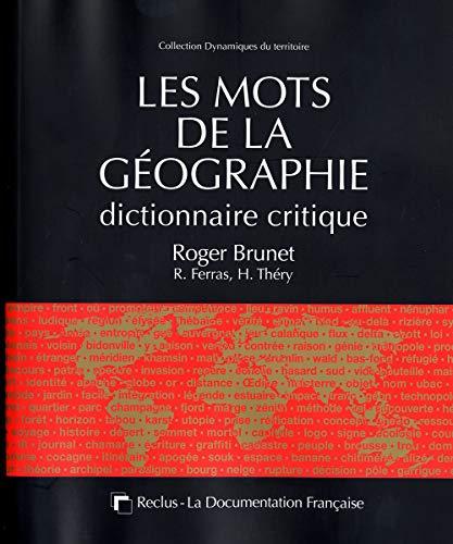 9782110075376: les mots de la géographie ; dictionnaire critique (3e édition)