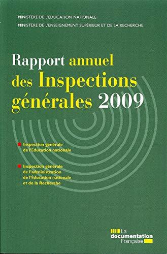 Rapport annuel des inspections générales 2009 -: Pascal-Raphaël Ambrogi; Philippe