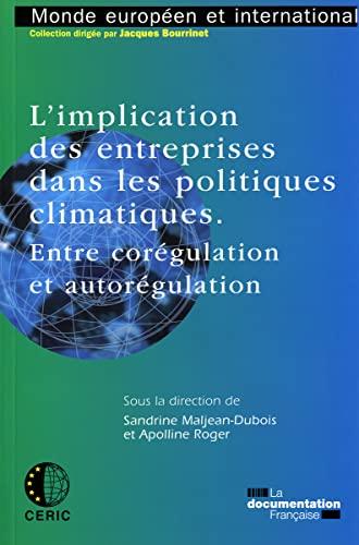 L'implication des entreprises dans les politiques climatiques (French Edition): Sandrine ...