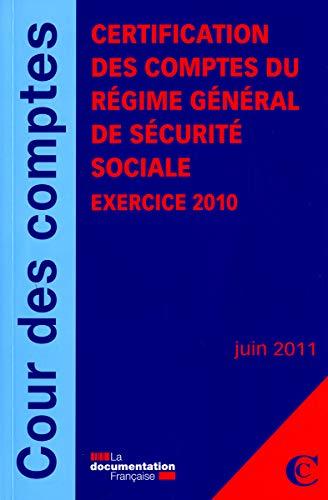 Rapport de certification des comptes du régime général de Sécurit&...