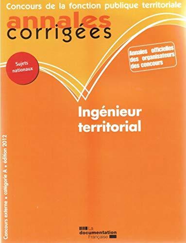 ingenieur territorial 2012 ; concours externe, catégorie A