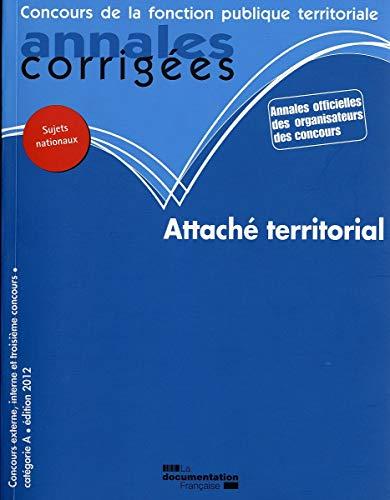 9782110089939: Attach� territorial 2012 - Concours externe, interne et troisi�me concours