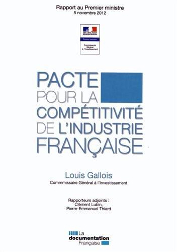 9782110092502: Pacte pour la compétitivité de l'industrie française - Rapport Gallois