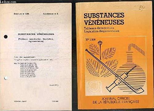 9782110716873: Substances vénéneuses : Législation, réglementation, tableaux et exonérations (Journal officiel de la République française)