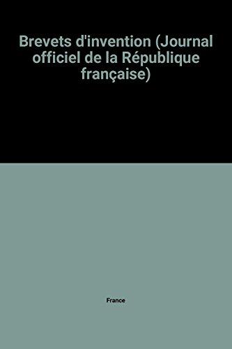 9782110718051: Brevets d'invention (Journal officiel de la République française)