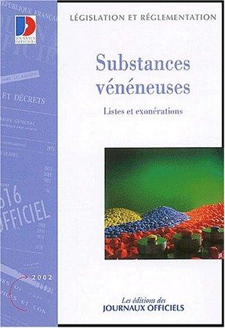 9782110754042: Substances v�n�neuses, listes et exon�rations