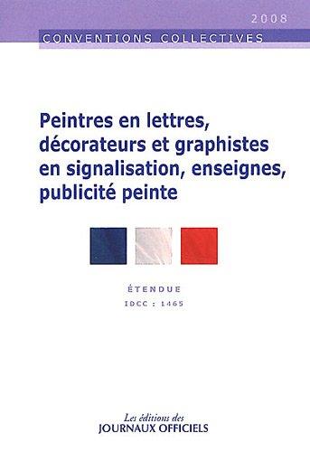 Peintres en lettres, graphistes-décorateurs en signalisation, enseignes: Journaux officiels (DJO)