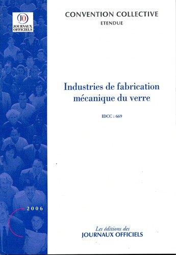 9782110762511: Industries de fabrication mécanique du verre